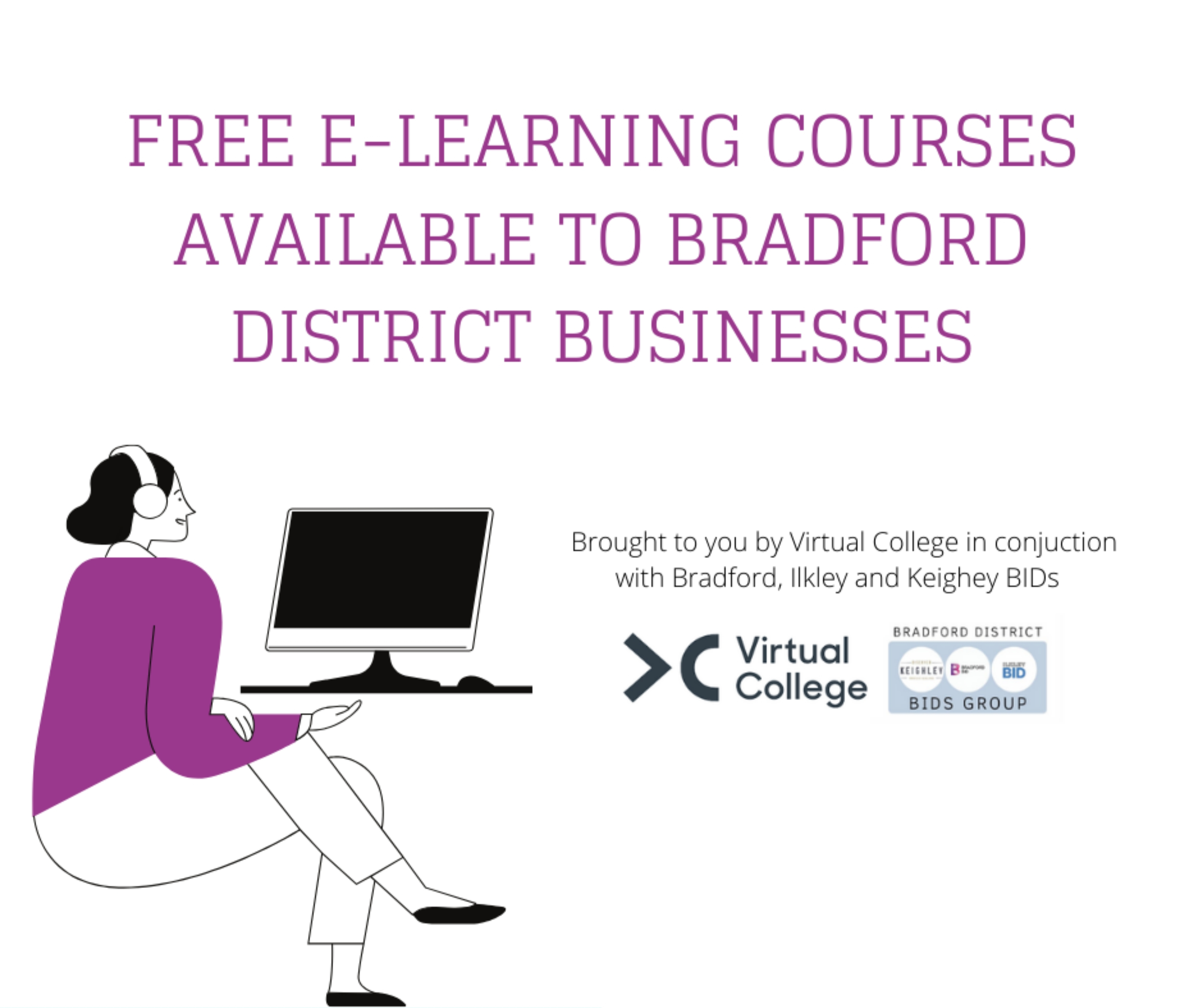 Ilkley BID teams up with Bradford & Keighley BIDs to launch free skills courses for lockdown-hit businesses